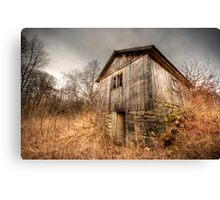 Barn in the brush Canvas Print