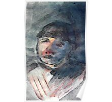 The Timeless Couple, man, watercolor Poster