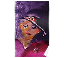 The Timeless Couple Series,woman, watercolor Poster
