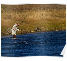 Double Hauling The Madison River Poster