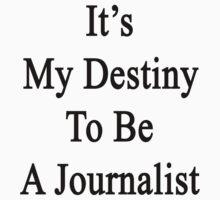 It's My Destiny To Be A Journalist by supernova23