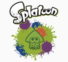 Splatoon Squid - Colour Green Kids Tee