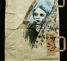 girl on paper bag by donnamalone