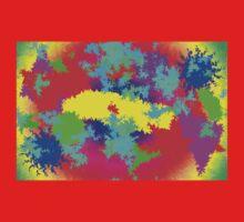 Colourful Random Trippy Pattern Kids Tee