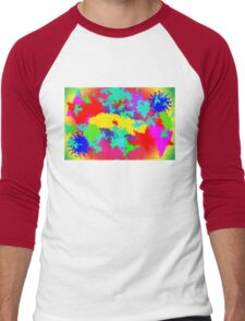 Colourful Random Trippy Pattern Men's Baseball ¾ T-Shirt
