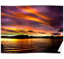 Westerly Sunset Poster