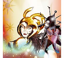 Gold Warrior Sci-Fi Drawing Photographic Print
