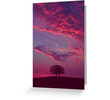 Blazing Double Tree Greeting Card