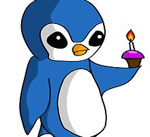 Birthday Penguin by sinistermachine