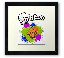 Splatoon Squid - Colour Orange Framed Print