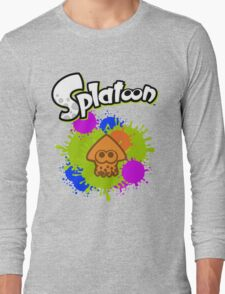 Splatoon Squid - Colour Orange Long Sleeve T-Shirt