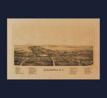 Panoramic Maps Caledonia NY One Piece - Short Sleeve
