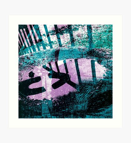 Rainwater puddle in an Old Dustbin Lid Art Print