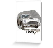 I Love James Bond Greeting Card
