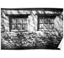 The Witches Window under the Cold Fingers of Shadows BW Poster
