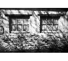 The Witches Window under the Cold Fingers of Shadows BW Photographic Print