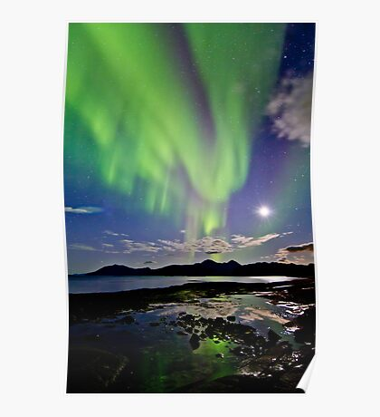 Auroras at Hillesøy Poster