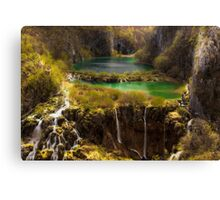 Plitvice lakes Canvas Print
