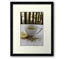 Lemongrass Tea and Lemon Slice Framed Print