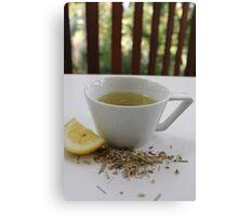 Lemongrass Tea and Lemon Slice Canvas Print