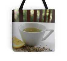 Lemongrass Tea and Lemon Slice Tote Bag