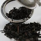 Black Tea in Strainer by Ali Choudhry