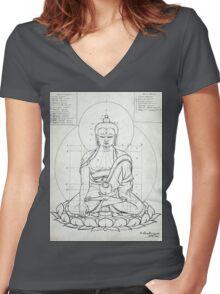 BUDDHA Women's Fitted V-Neck T-Shirt
