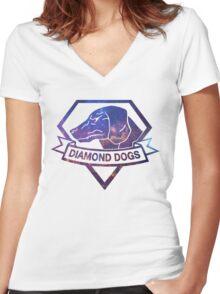 Diamond  universe Women's Fitted V-Neck T-Shirt