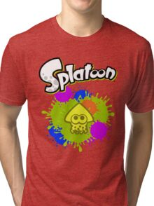 Splatoon Squid - Colour Yellow Tri-blend T-Shirt