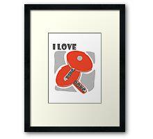 I Love Ping Pong Framed Print