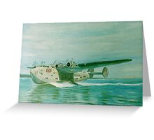Flying Boat Greeting Card