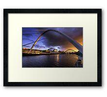 Fine Tyne sunset Framed Print
