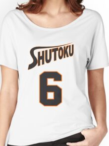 Kuroko No Basket Shutoku 6 Midorima Jersey Anime Cosplay Japan T Shirt Women's Relaxed Fit T-Shirt