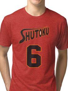 Kuroko No Basket Shutoku 6 Midorima Jersey Anime Cosplay Japan T Shirt Tri-blend T-Shirt