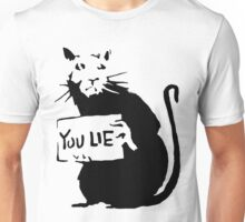 banksy - rat (you lie) Unisex T-Shirt