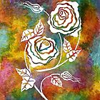 White Roses - A statement piece by Lisa Frances Judd ~ Original Australian Art