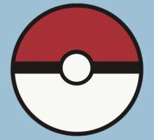Pokemon - Pokeball WHITE RED Baby Tee