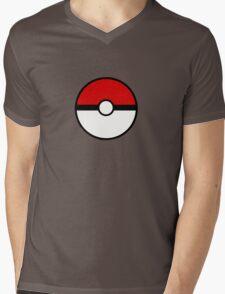 Pokemon - Pokeball WHITE RED Mens V-Neck T-Shirt
