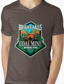 Bright Falls Coal Mine Mens V-Neck T-Shirt