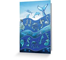 Ocean's Symphony Greeting Card