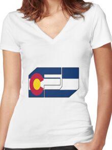 fj colorado  Women's Fitted V-Neck T-Shirt