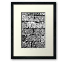Brick Wire Framed Print