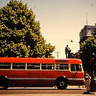 red bus by Soxy Fleming