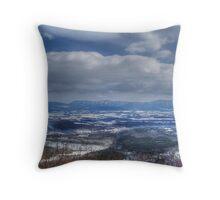 Shenandoah Snow Throw Pillow
