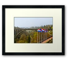 Adolphe Bridge at Luxembourg City Framed Print