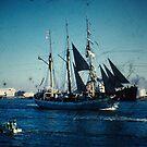 tall ship by Soxy Fleming