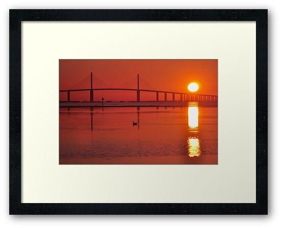 Skyway Bridge at Sunrise, As Is by Kim McClain Gregal
