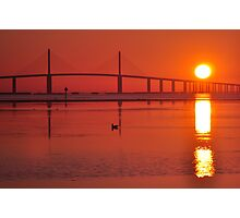 Skyway Bridge at Sunrise, As Is Photographic Print