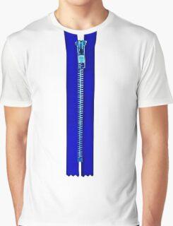 Blue zip Graphic T-Shirt