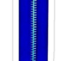 Blue zip Sticker
